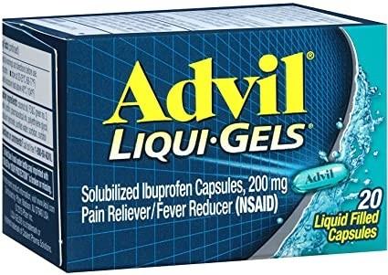 Advil 20 count liquid gels